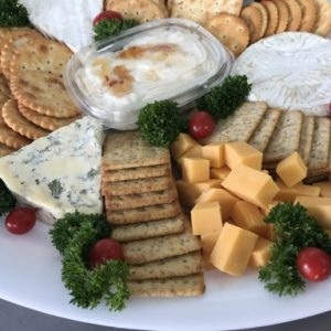 cheese and biscuit platter