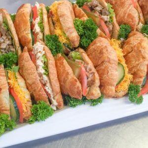 cocktail croissant platter