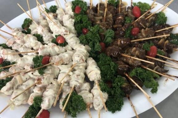 mixed kebab platter