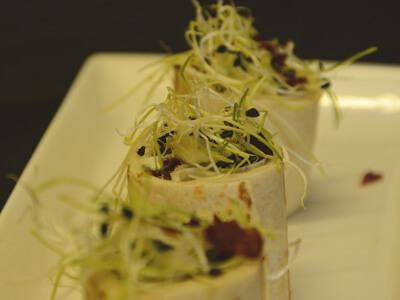spinach feta and macon wrap