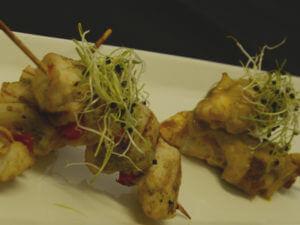 thai green curry chicken satay